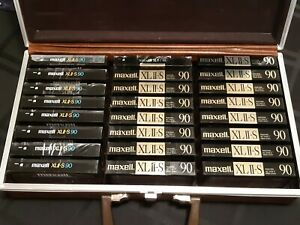 MAXELL XLII-S 90 BLANK CASSETTE TAPES JAPAN SEALED LOT OF 24 8 EPITAXIAL
