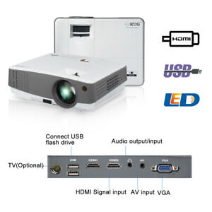 LCD LED Multimedia Home Theater Projector  Full HD Video Audio Party HDMI USB