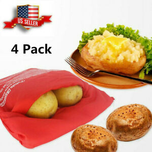 4 Pcs Potato Express Bag For Baking Potatoes In The Microwave Quick Fast Cooker