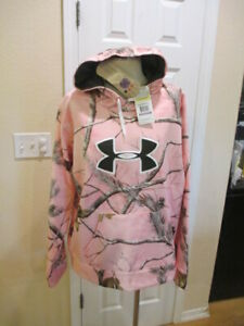 UNDER ARMOUR Women's 2XL XXL REALTREE Camo Hoodie NWT 1247095 Loose Fit Pink