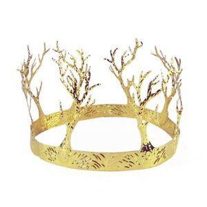 Gold Tree Crown Adult Costume Accessory Wedding Party Hat Medieval Movie TV Prop