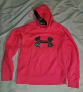 Under armour Semi fitted Womens Hoodie Size M Coldgear pink storm $18.00