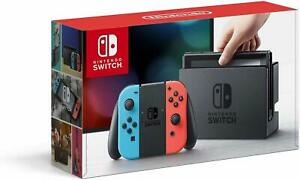 Nintendo Switch Console with Neon Blue and Neon Red Joy‑Cons.