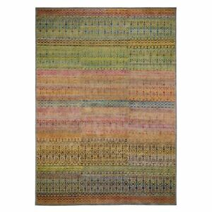 10'x14' Colorful Grass Design Sari Silk Textured Wool Modern Oriental Rug R47544