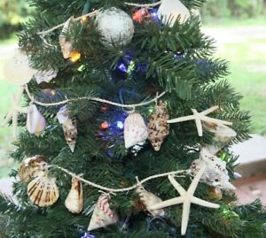 7 Set of 7 Seashells On A Rope Christmas Tree Garlands 45quot; Beach G 3