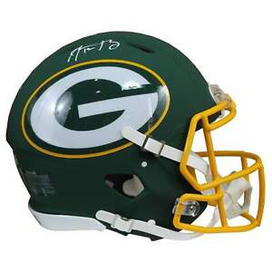 Aaron Rodgers Signed Green Bay Packers Speed Full Size Amp NFL Helmet