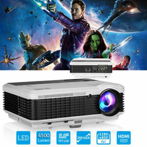Multimedia LCD LED Home Theater Full HD Video Audio Party Projector HDMI USB