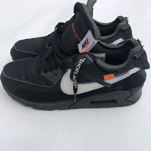 AIR MAX 90 OFF WHITE BLACK Style # AA7293-001 Size 8