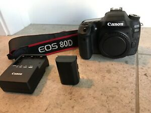 Canon EOS 80D 24.2MP Digital SLR Camera - Body only Shutter Count: 1749