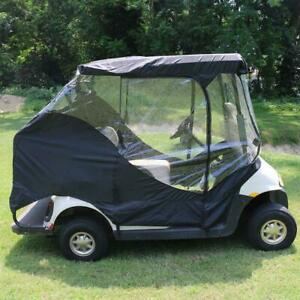 Golf Car Enclosure Cart Window Door Cover Rain Travel 4-Sided Protection