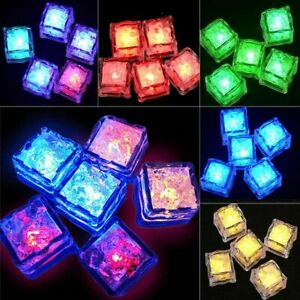 12PCS Multi Color Rainbow Flash Light Up Ice Cube Glow Ice Cube FREE SHIPPING US