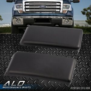 New Pair L & R Front Bumper Guards Pads Inserts Caps For FORD F150 2009 2014