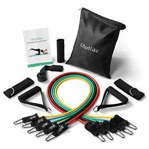 OlarHike 13pcs Resistance Bands Set Including 5 Stackable Exercise Bands with