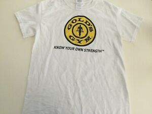 Golds Gym Short Sleeve T Shirt Small S White $6.99