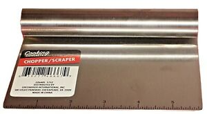 Stainless-Steel Bench Scraper/Chopper/With Ruler Must Have In Your Kitchen!!!