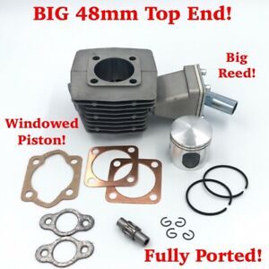FULLY PORTED - 48mm Diameter Top-End - BIG REED - 72cc - For PK80's ONLY!