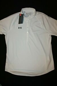 UNDER ARMOUR Women's UA Threadborne Loose Fit Golf Polo Shirt NWT Size: LARGE