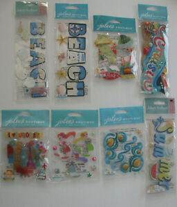 JOLEE'S Dimensional Stickers Camping Travel Vacation U CHOOSE NEW IN PACKAGE