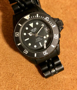 Heuer Ladies 980.025 Vintage Black PVD 200M Diver Nice Condition