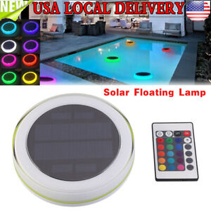 Solar Swimming Pool Lights Underwater Floating Fountain Show LED Multi Color $20.04
