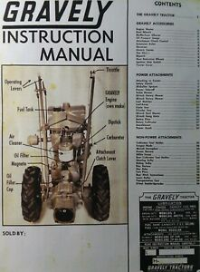 Gravely L LI & Swiftamatic Walk-Behind Garden Tractor Owners & Parts Manual 1964