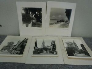 Group of 5 Original Photographs by Elfriede Siemssen All Signed amp; Matted $29.99