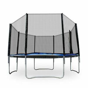12' Round Trampoline Combo Bounce Jump Safety Enclosure Net WSpring Pad Ladde