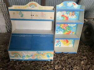 Care Bears Bookshelf Bookcase Display Vintage Book Shelf & Toy Storage Playroom