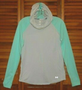 Under Armour HEATGEAR FITTED RUN Pullover Hoodie SIZE SMALL WOMEN'S Shirt Top $18.69
