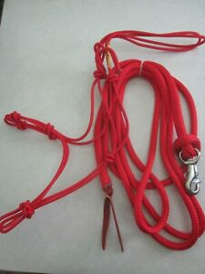 NWT Clinton Anderson Halter & Lead Rope (Red Size: Average Horse)