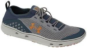 Under Armour Kilchis Shoe - Steel  Mechanic Blue  Rodeo Orange - New