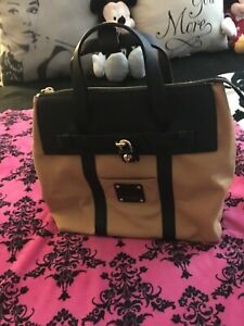 Henri Bendel Small Jetsetter Black and Brown