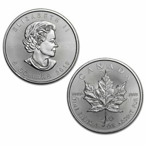2019 $5 Silver Canadian Maple Leaf 1 oz Brilliant Uncirculated - BU