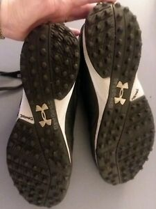 Under Armour Men's Black White Baseball Rubber Cleats Turf Shoes Size 11 $55.00