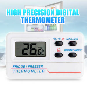 Digital LCD Refrigerator Freezer Thermometer Fixed Temperature Warning Alarm