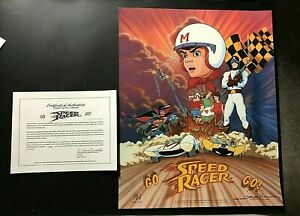 AMAZING! SPEED RACER GO 1993 LITHOGRAPH SIGNED NUMBERED AUTOGRAPHS CEL ART 2488