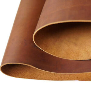 Tooling Leather Square 2.0mm Thick Full Grain Cowhide Leather Craft 5 6OZ Brown