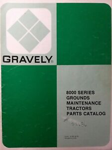 Gravely 8179 8169 8199 8163 8162 8129 8128 Riding Garden Tractor Parts Manual