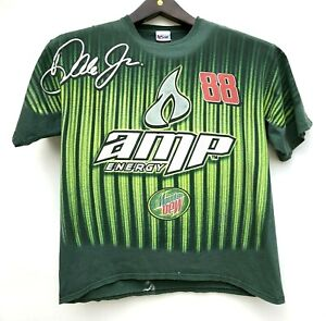 Vtg Dale Earnhardt Jr Amp Energy Chase Authentics T shirt Size XL All Over Print