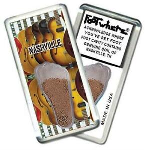 Nashville FootWhere® Souvenir Magnet. Made in USA