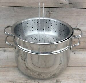 Meyer 6.5qt Pasta Pot With 1 Steamer 1 Strainer No Lid Stainless