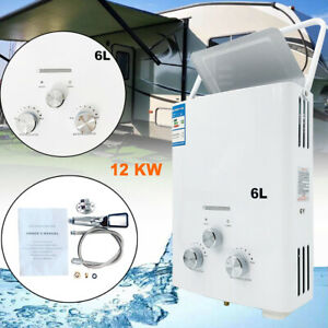 6L Propane Gas LPG Portable Tankless Hot Water Heater Outdoor RV's