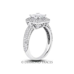 5.42ct D-VS1 Radiant Natural Certified Diamonds 950 Plat. Halo Side Stone Ring