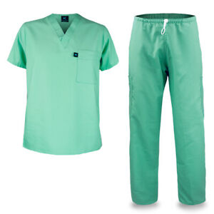 KM01L Kolossus Men#x27;s Poly Cotton Medical Scrubs Set