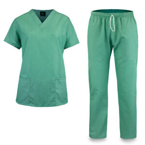 KM51L Kolossus Women#x27;s Cotton Poly Blend Medical Scrubs Set