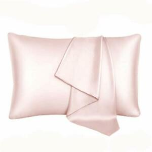 22 Momme Pure Natural Mulberry Silk Pillowcase Dusty Rose Standard $28.04