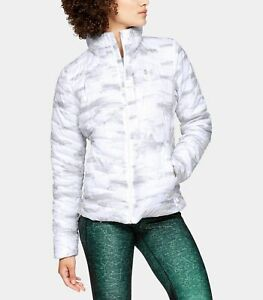 NEW UNDER ARMOUR COLDGEAR REACTOR JACKET White Ghost Gray Womens S M L XL Puffer $79.95