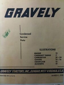 Gravely L LI LS Walk-Behind Garden Tractor Repair Shop Service & Parts Manual