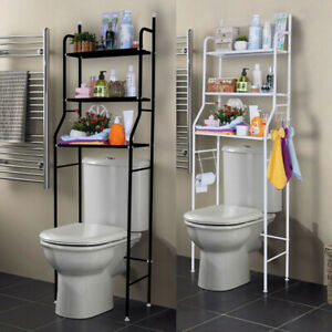 USA! 3 Tier Over Toilet Bathroom Space Saver Metal Towel Storage Rack Organizer