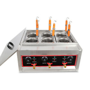 Used 6 Holes Noodles Cooker Pasta Cooking Machine Pasta Makers Deformation 220V
